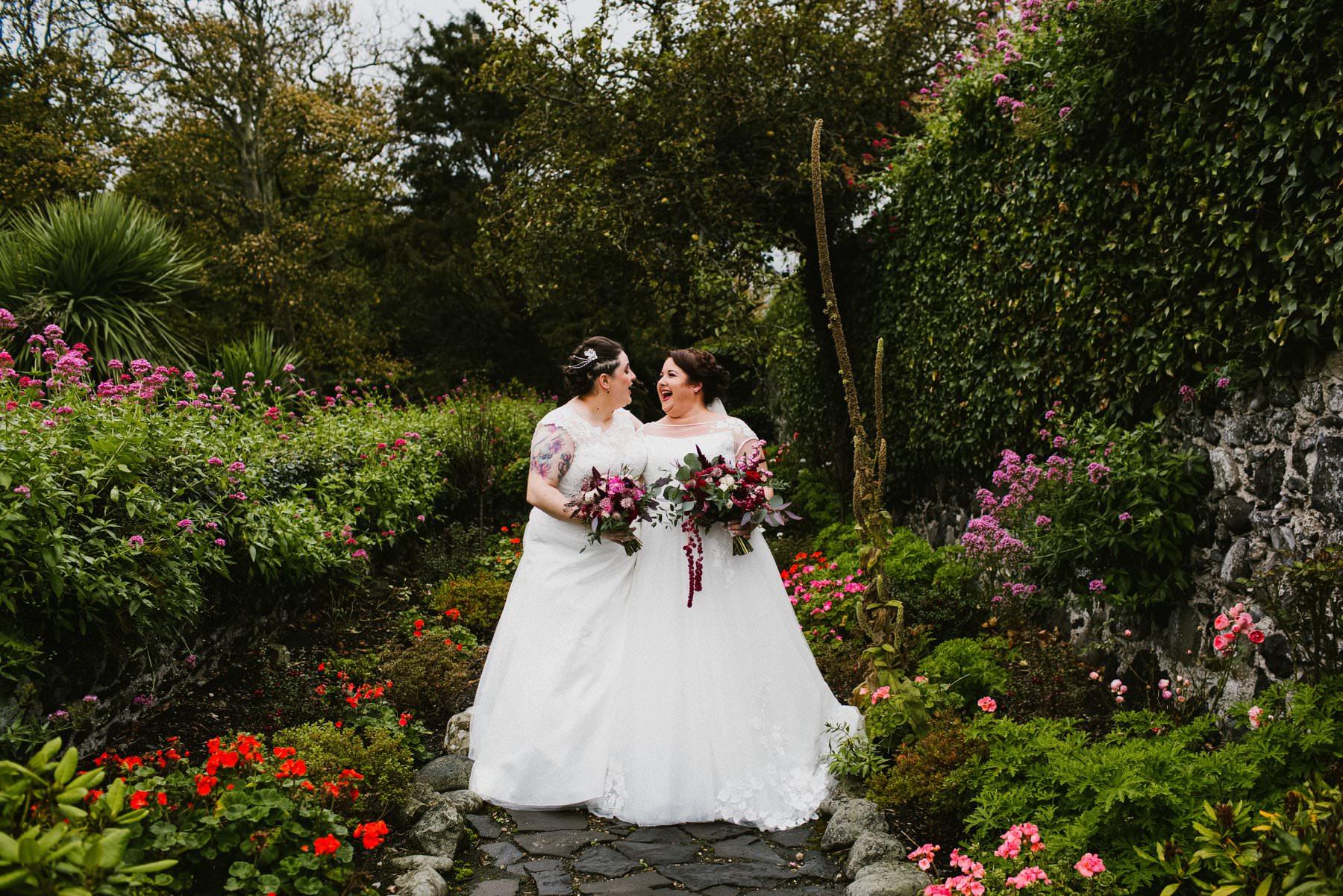 same sex wedding at ballygally hotel larne northern ireland