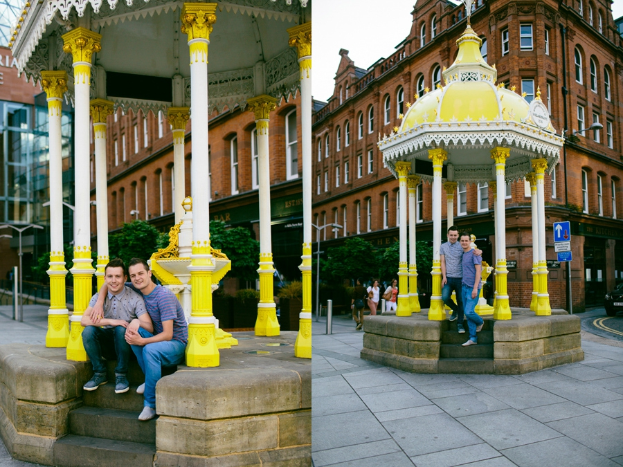 Civil Partnership Photography Northern Ireland, engagement photoshoot, Victoria Square, Belfast.