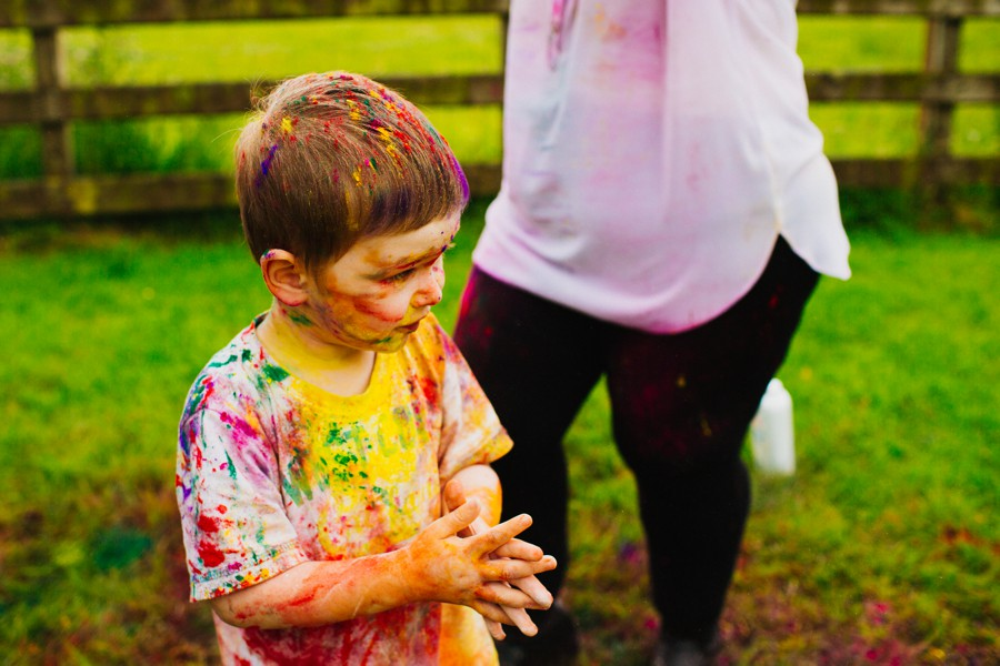 Alternative Family Photographer Northern Ireland Holi Paint Photoshoot