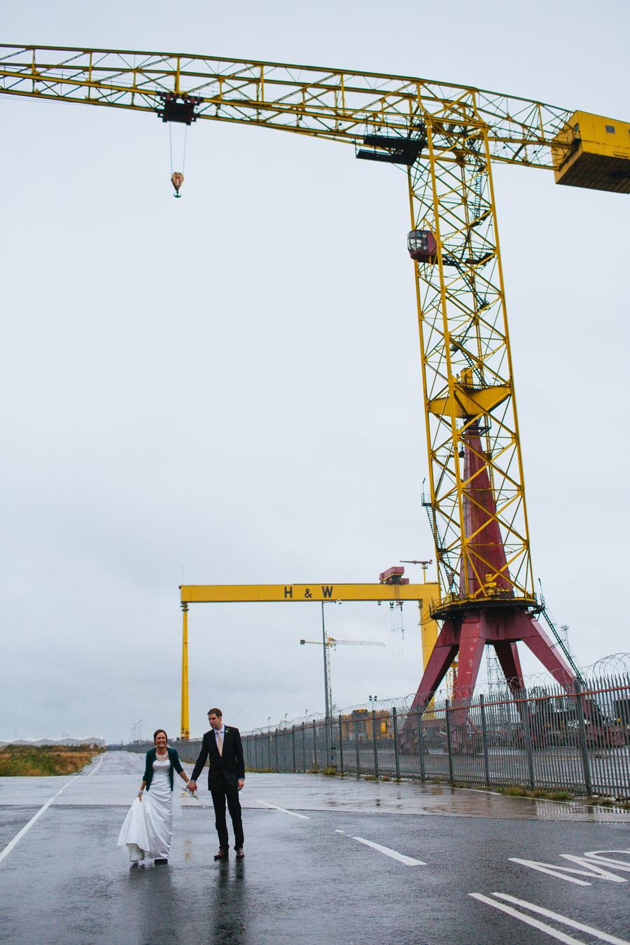 Alternative Wedding Photographer Northern Ireland, the Docks, Belfast, Ireland.