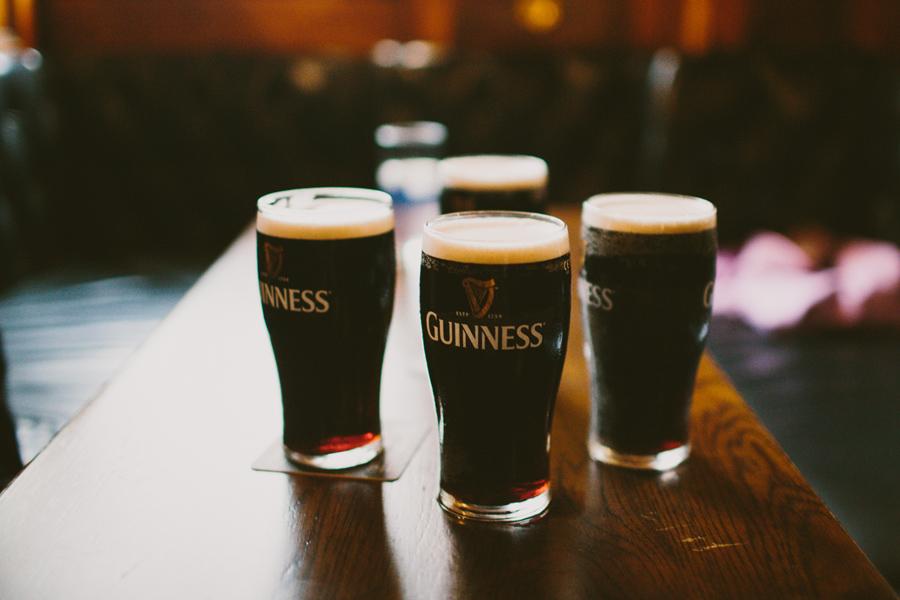Wedding Photographer Northern Ireland, pint of Guinness, Crown Bar, Belfast