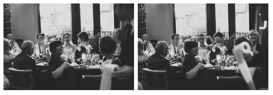 Alternative Wedding Photographer Northern Ireland, embarrassed bride and groom, Barking Dog, Belfast
