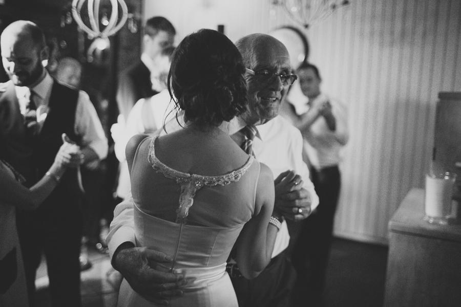 Wedding Photography Northern Ireland, bride dancing with grandfather, Barking Dog, Belfast, Northern Ireland.