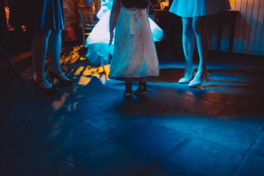 Wedding Photographer Northern Ireland, girl dancing wedding party, Barking Dog Restaurant, Belfast, Ireland.