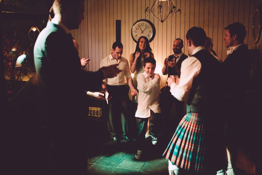 Wedding Photography Northern Ireland, boy dancing, running man at wedding party, Barking Dog, Belfast