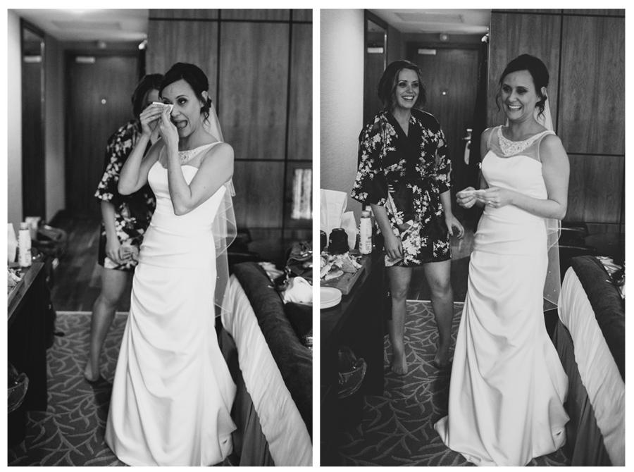 Wedding Photography Northern Ireland, bride at the Europa Hotel, Belfast, Ireland.
