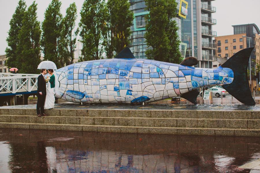 Wedding Photographer Northern Ireland, the big fish, Belfast.