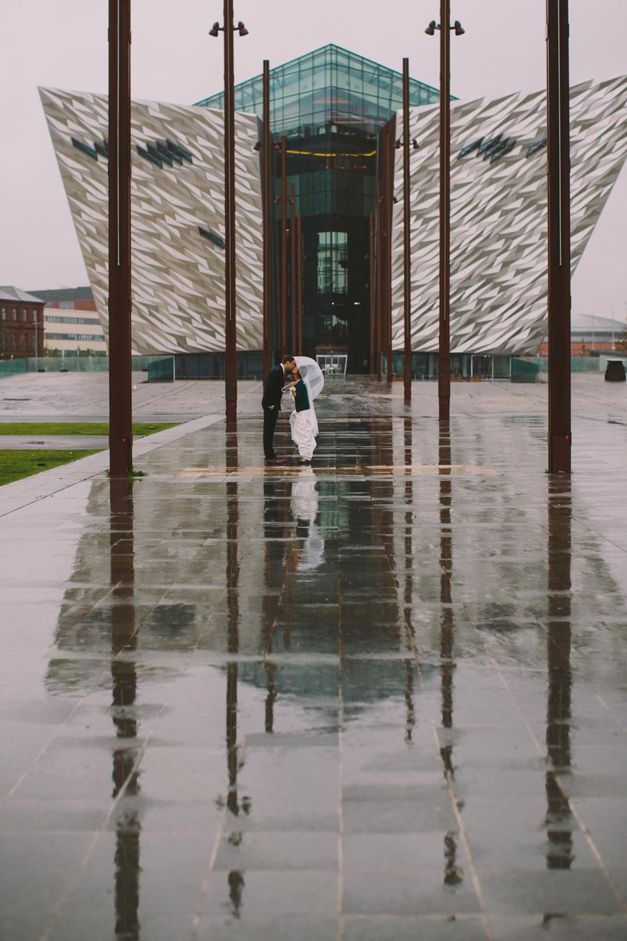 Alternative Wedding Photographer Northern Ireland, Titanic Museum, Belfast