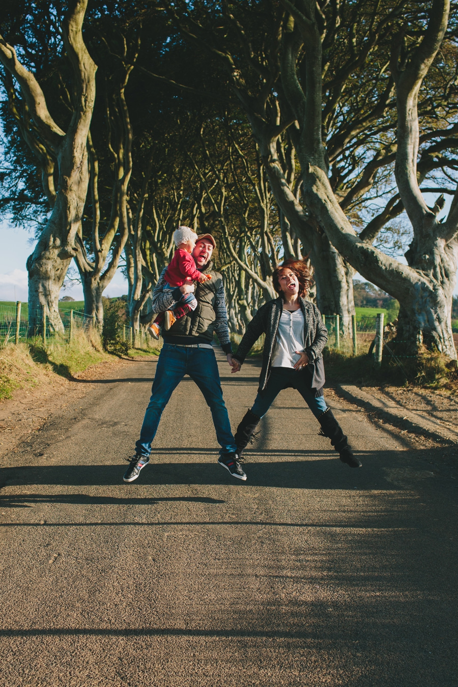 Alternative Family Portrait Photography Northern Ireland The Dark Hedges County Antrim.