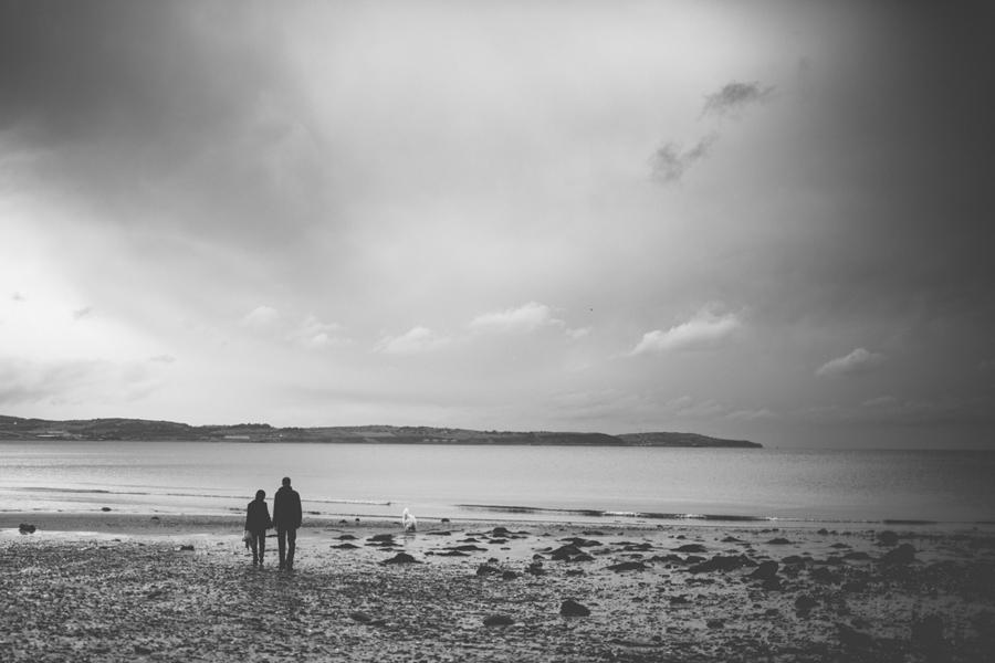 Wedding Photography Northern Ireland, alternative engagement photoshoot at beach, Crawfordsburn Park, Belfast.