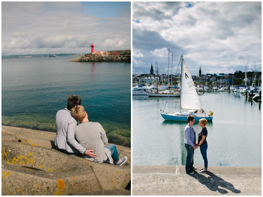 Gay Friendly Wedding Photographer Northern Ireland, lesbian engagement photoshoot at Bangor Marina, County Down.