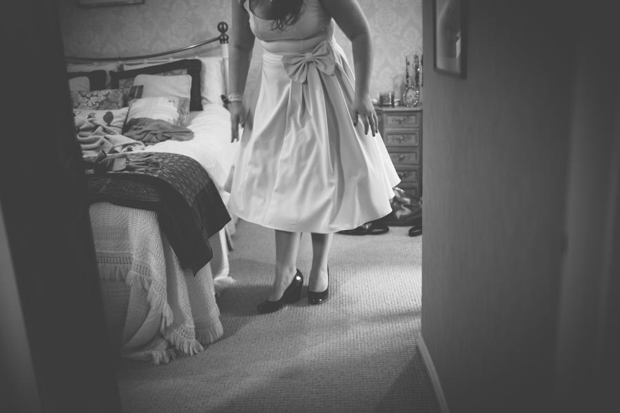 Wedding Photography Northern Ireland, vintage bride preparing for wedding, Belfast alternative photographer.