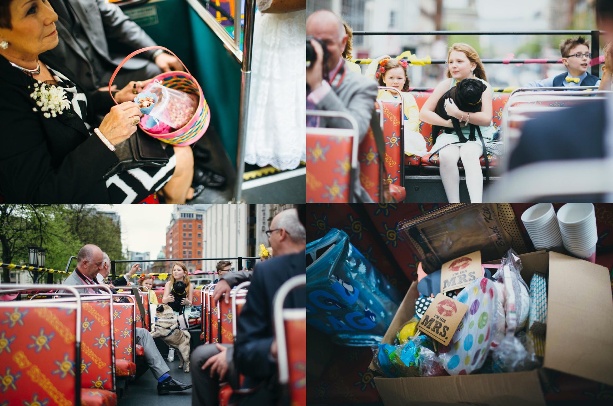 bus tour of belfast, wedding photographer northern ireland