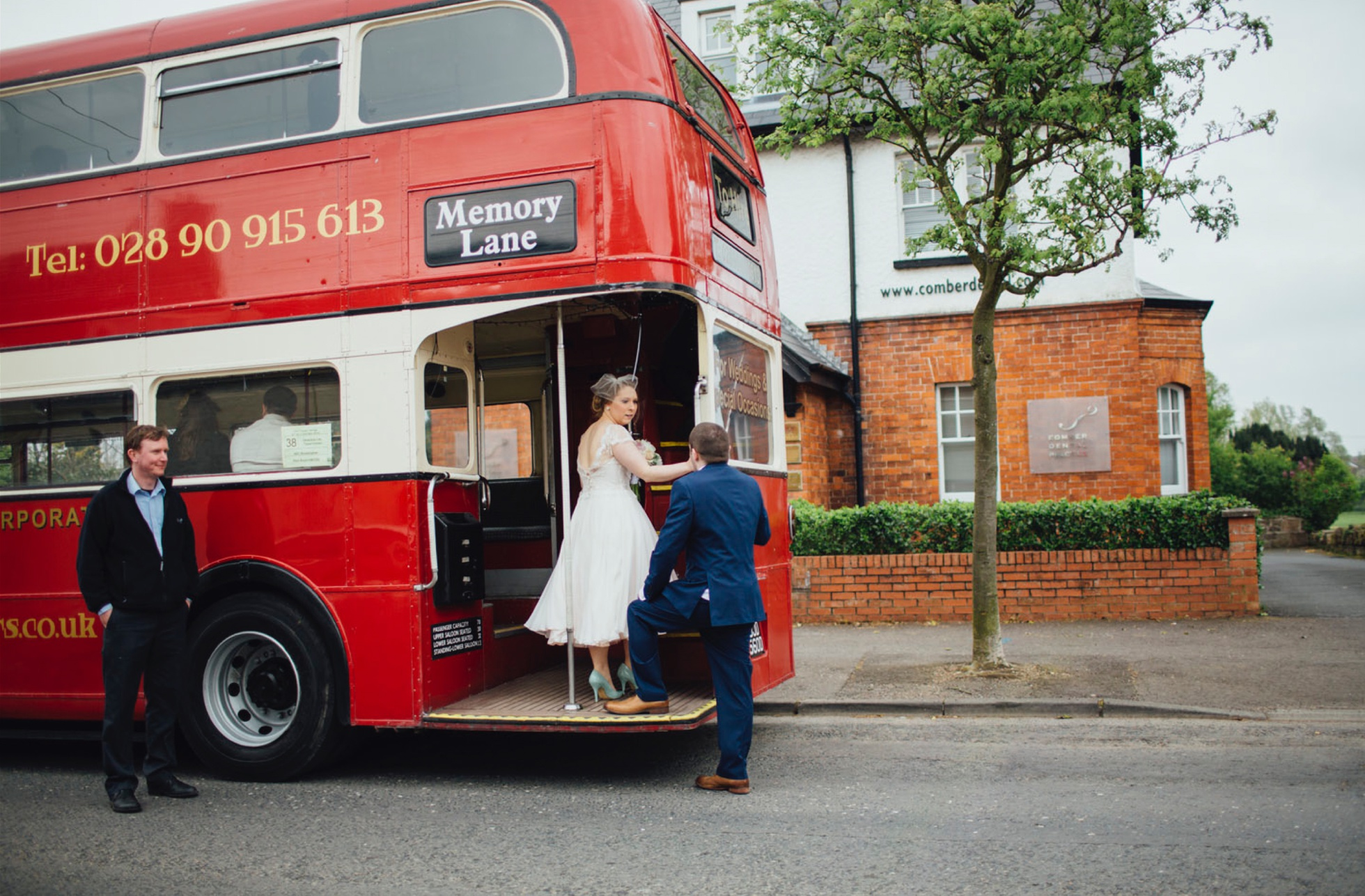 vintage bus wedding wedding photographer northern ireland