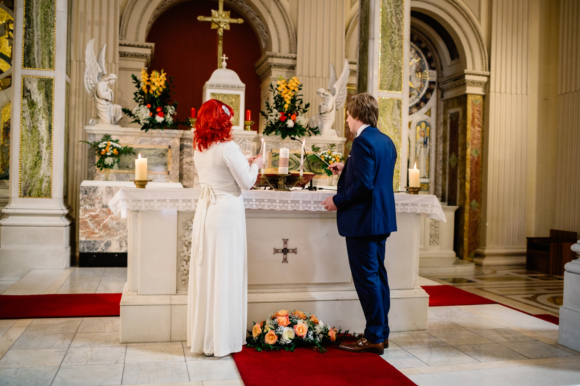wedding photographer ireland, rathmines church dublin