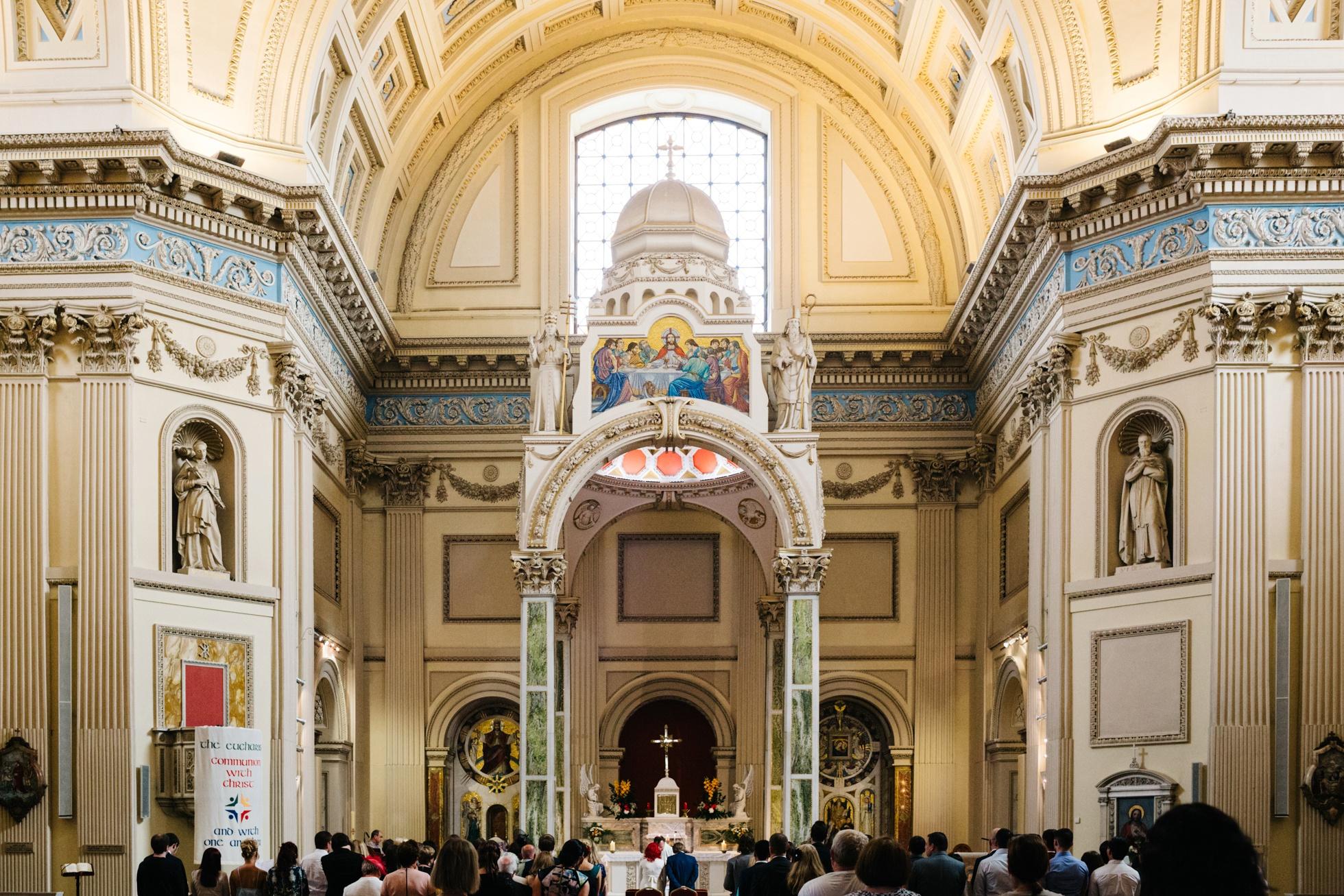 wedding photographer ireland, rathmines church, dublin 6