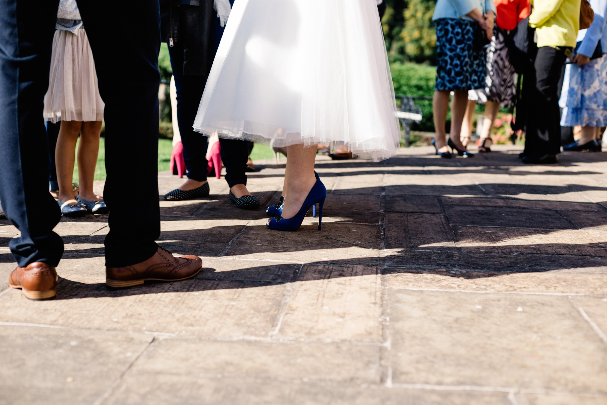 blue wedding shoes, wedding photography northern ireland