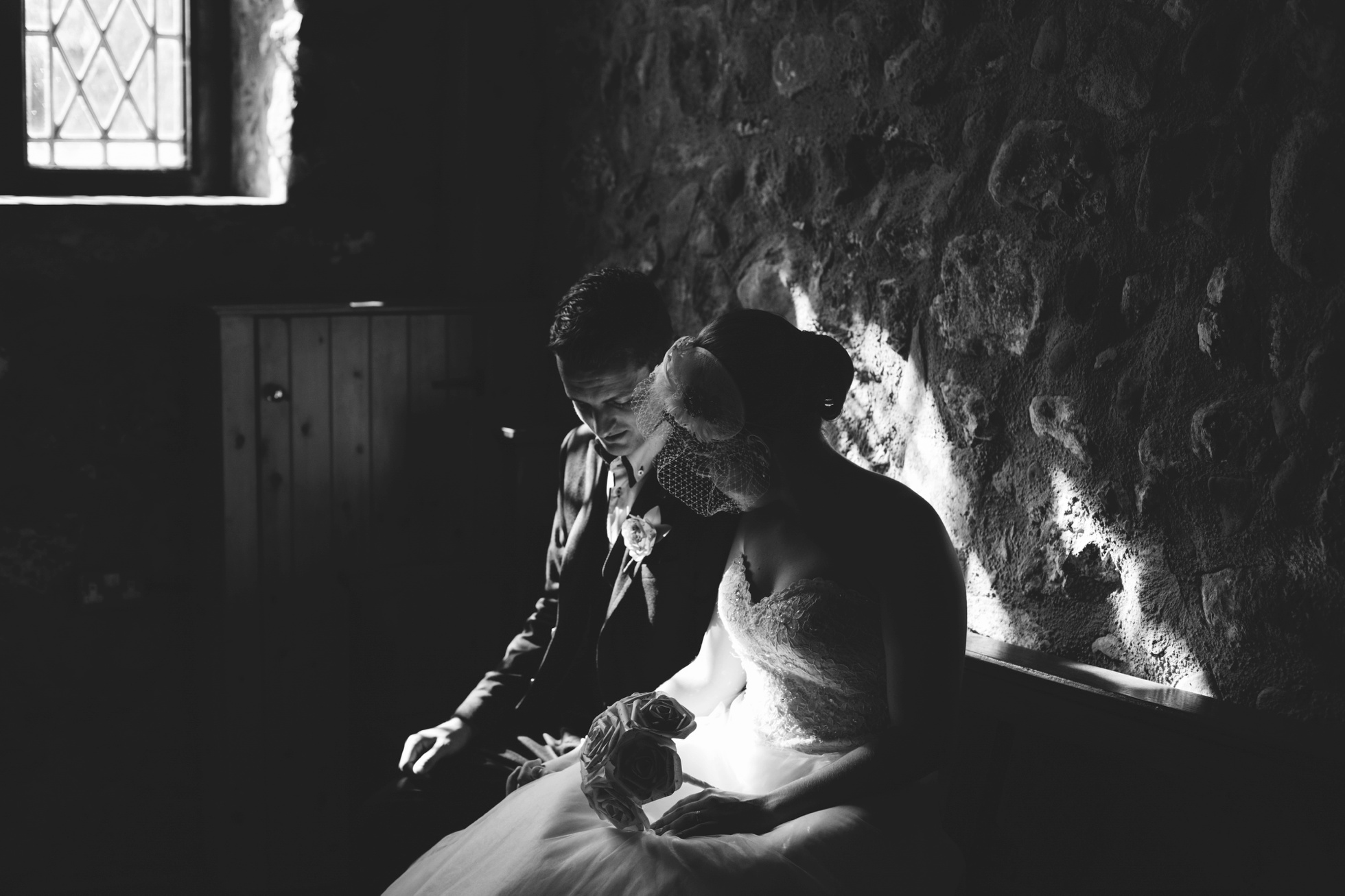 wedding photography northern ireland, black and white