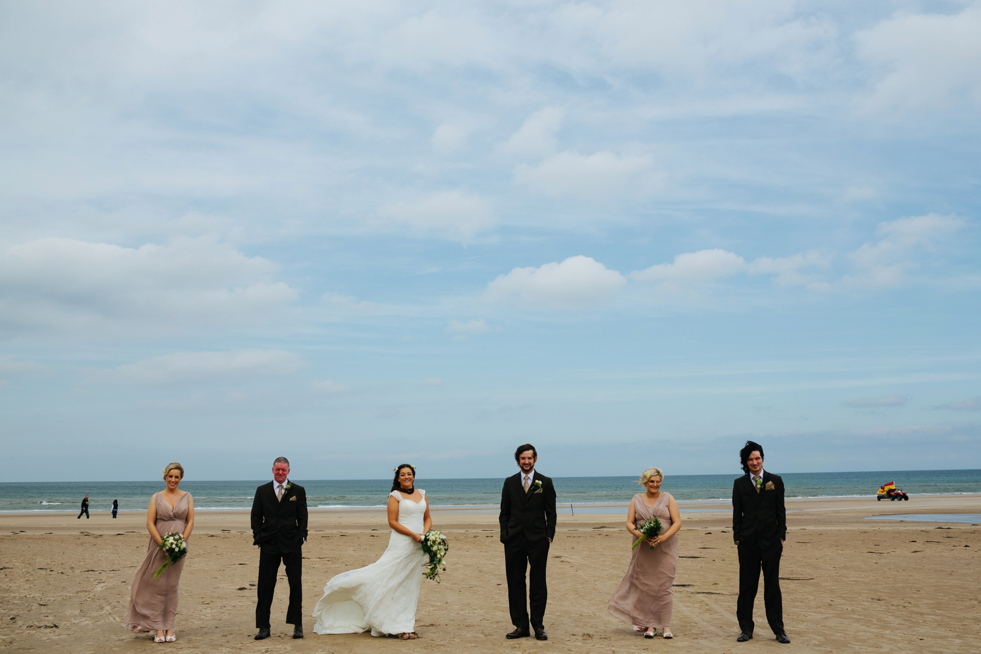 beach wedding photography northern ireland