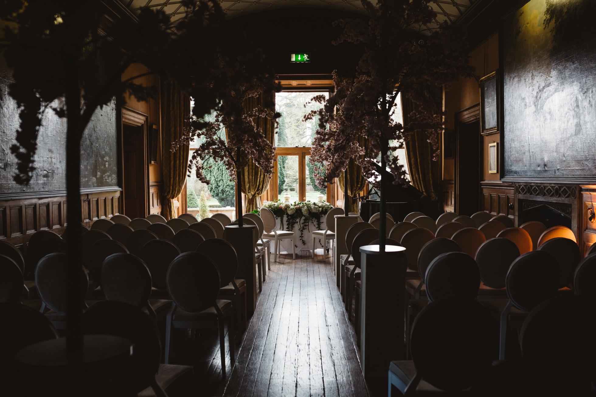 ceremony room, castle leslie, ireland