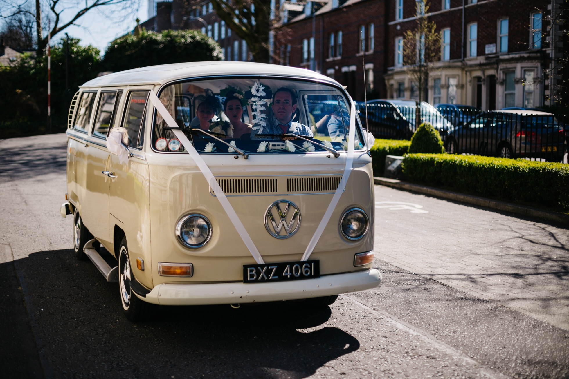 vw camper van wedding photographer northern ireland