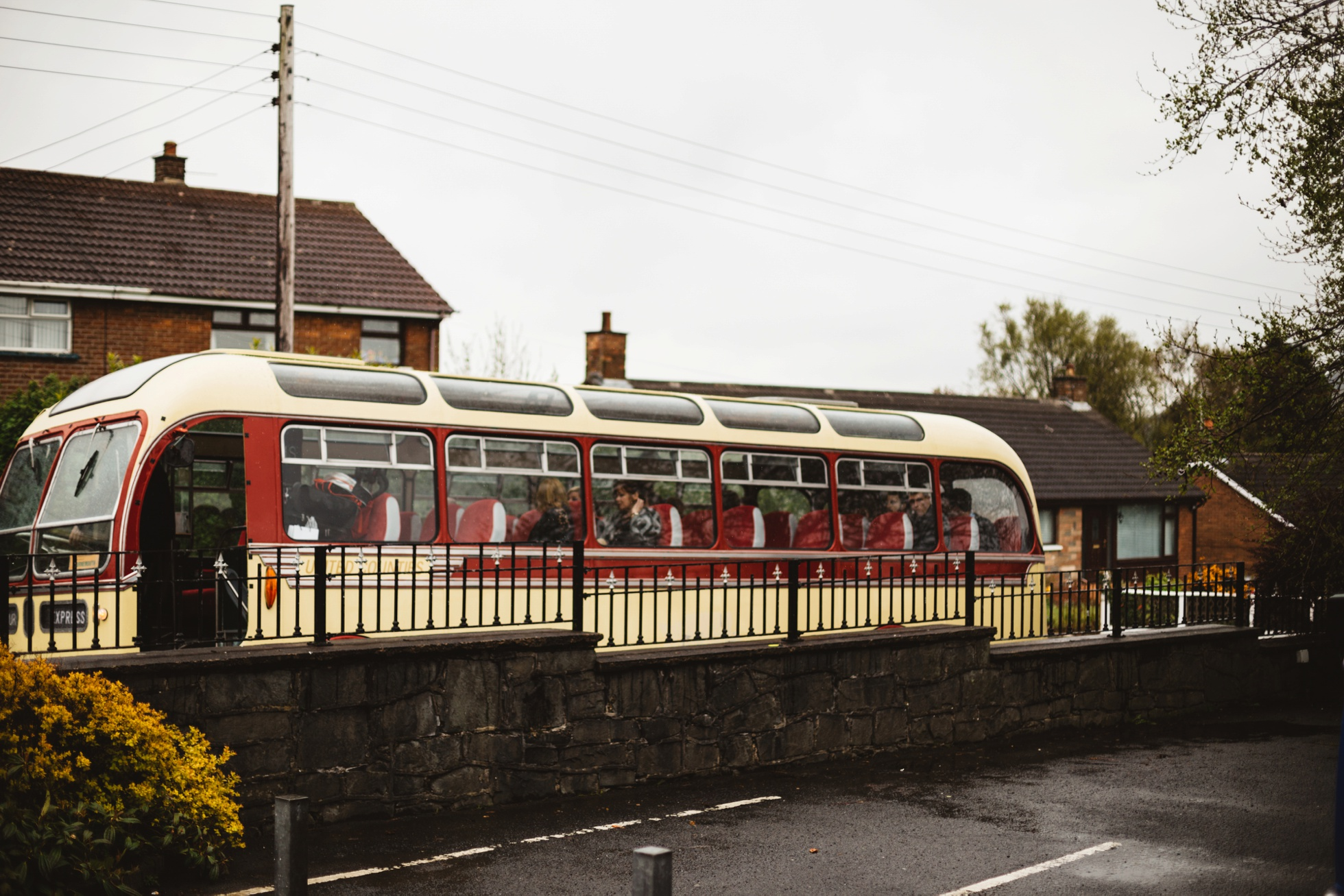 vintage bus wedding photography northern ireland