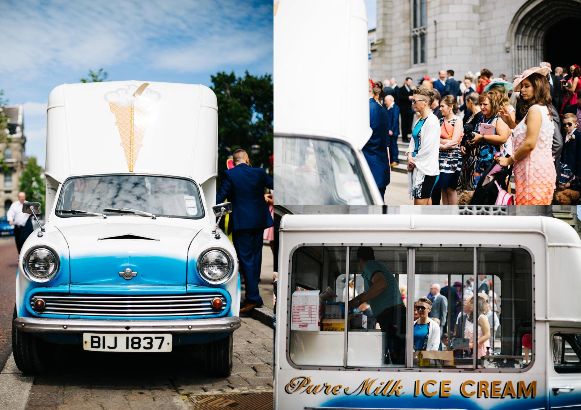 ice cream van at wedding wedding photographer northern ireland