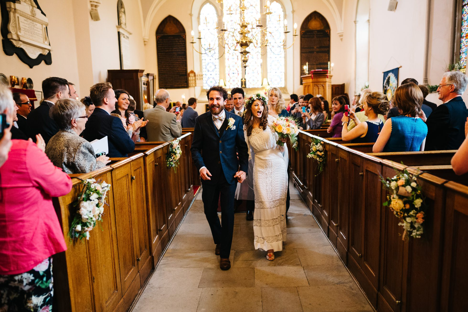 wedding photographer northern ireland, dance down the aisle
