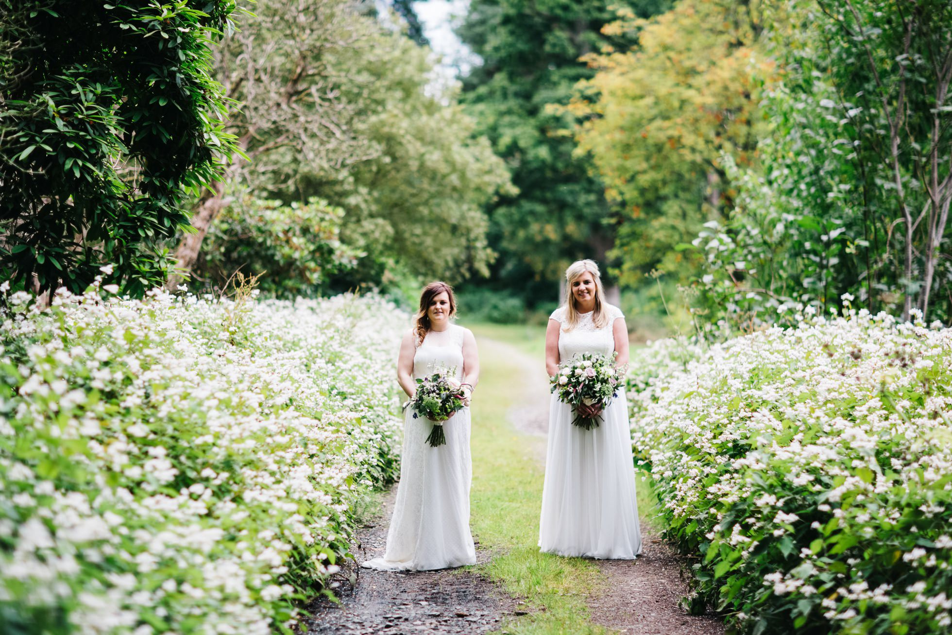 same sex wedding photography northern ireland, two brides, two dresses
