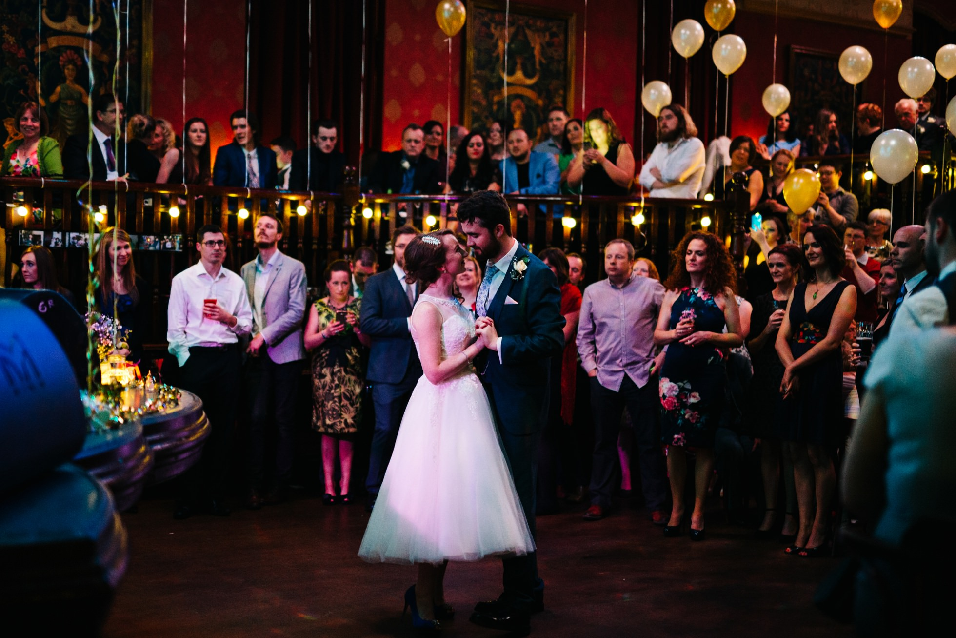 alternative first dance wedding photograph in Empire Belfast Northern Ireland