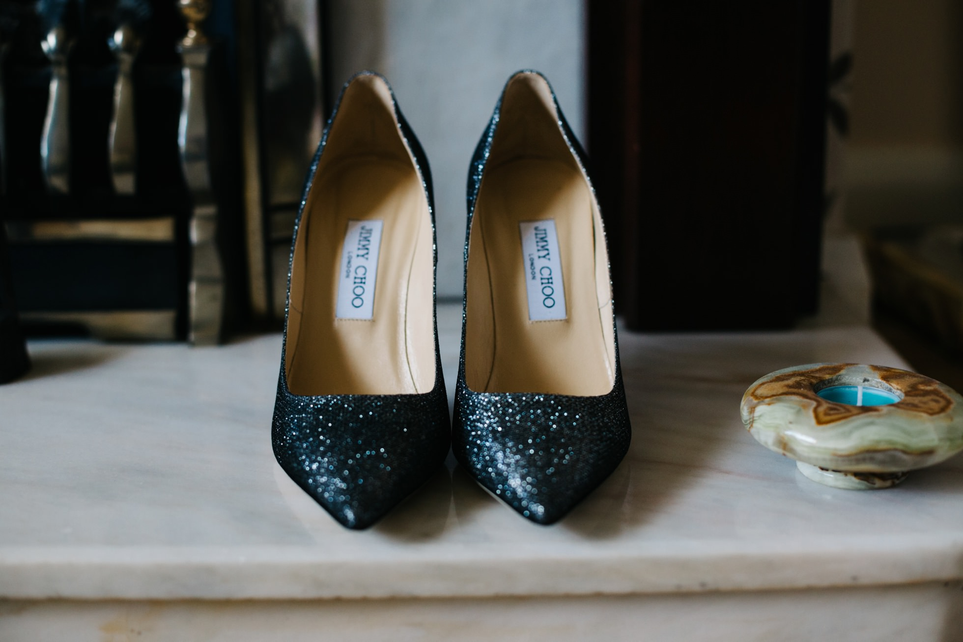 wedding photographer northern ireland, jimmy choo shoes for bride