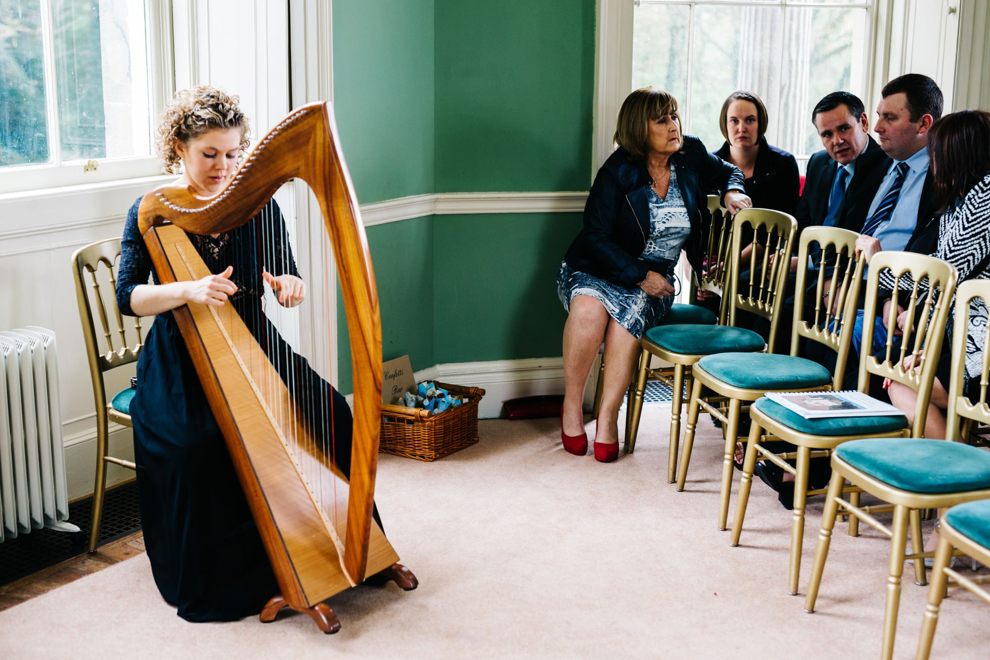 ruth corry harpist wedding photography northern ireland