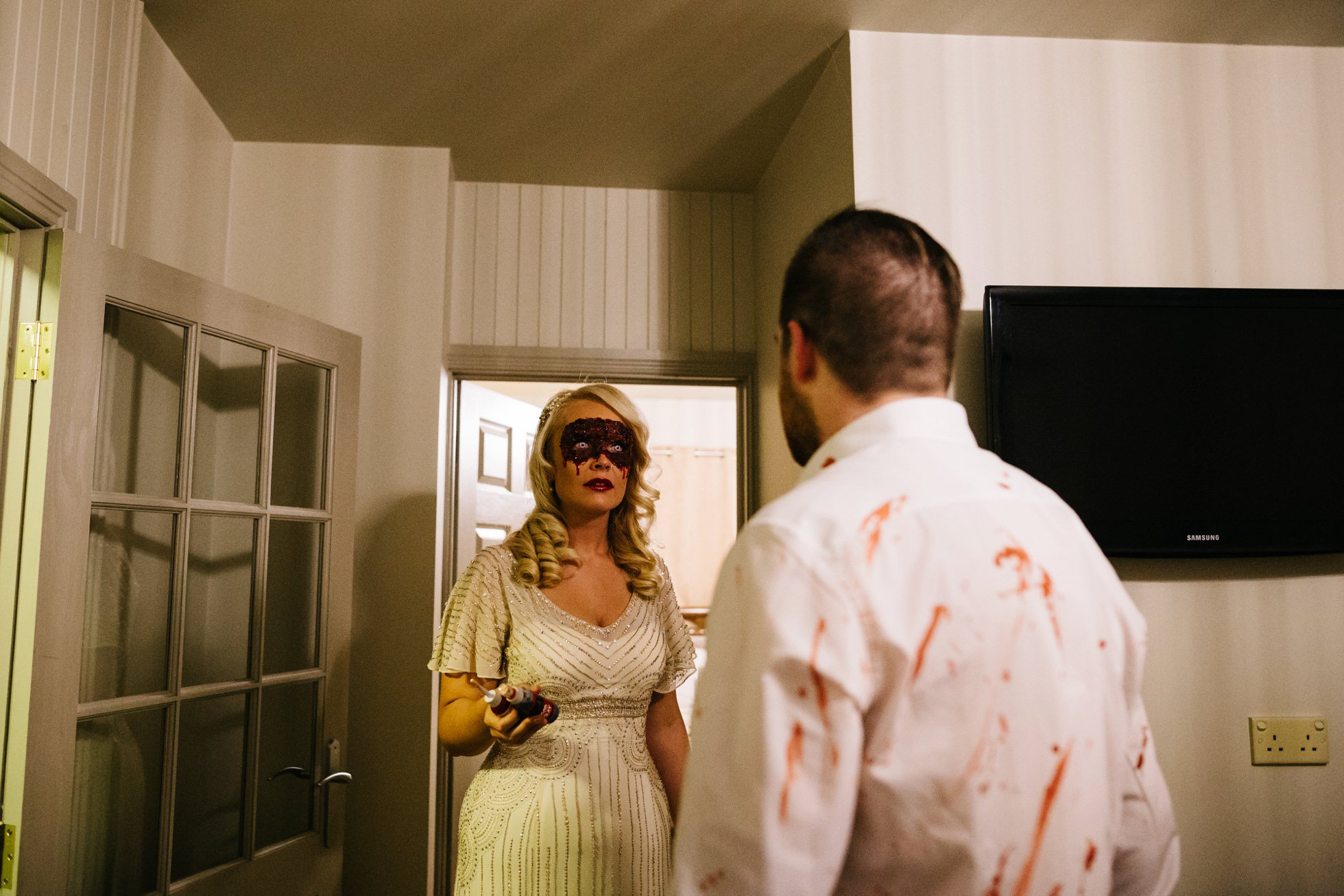 zombie bride wedding photography northern ireland