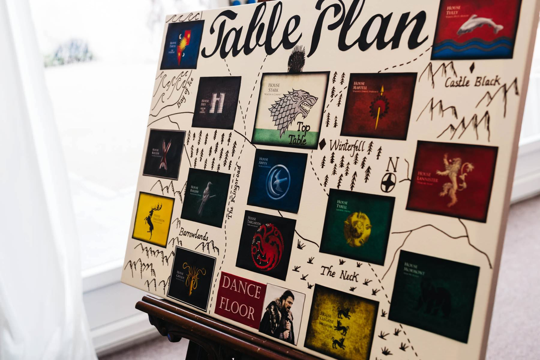 game of thrones table plan destination wedding photography ireland