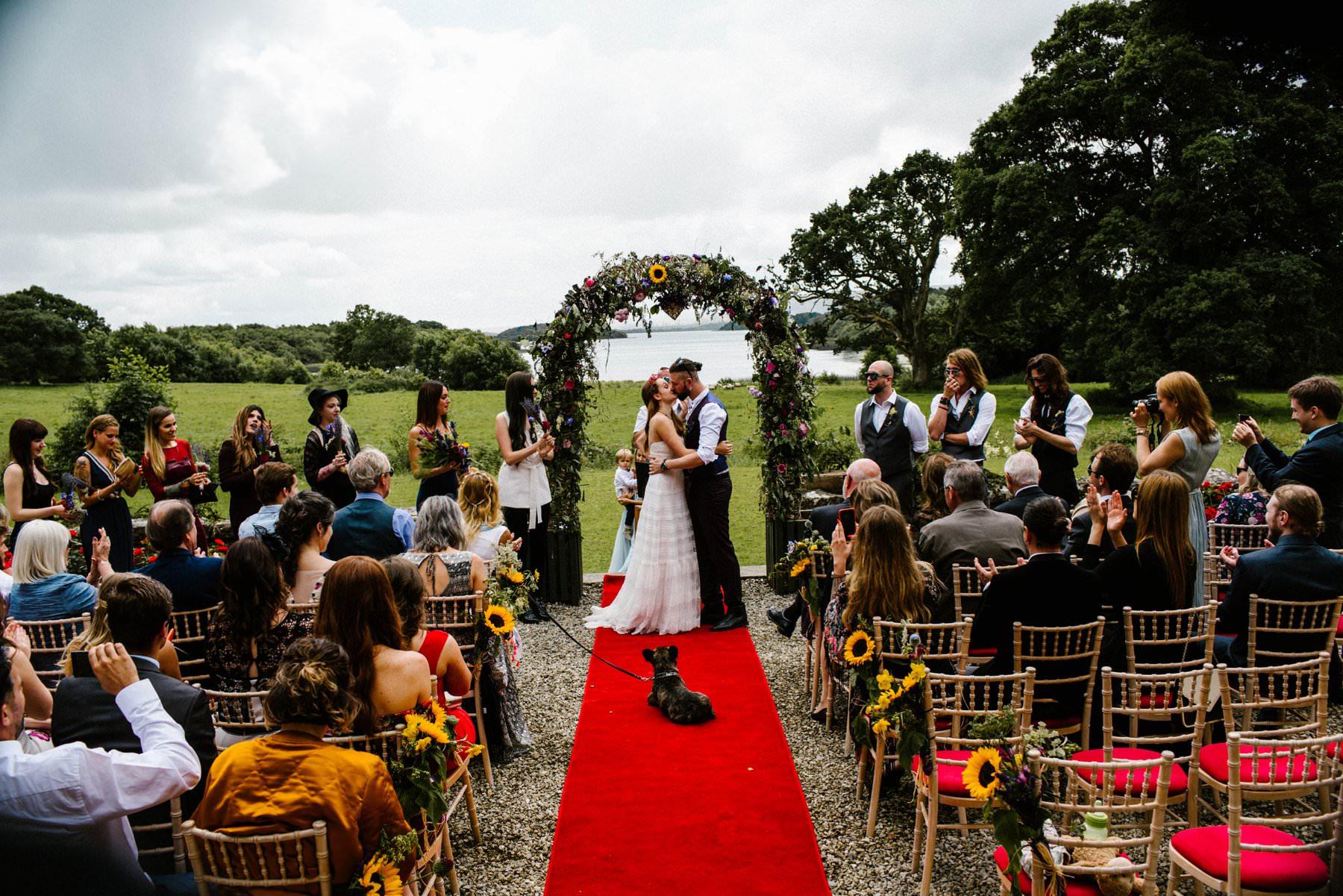 outdoor ceremony belle isle estate, ireland wedding photography