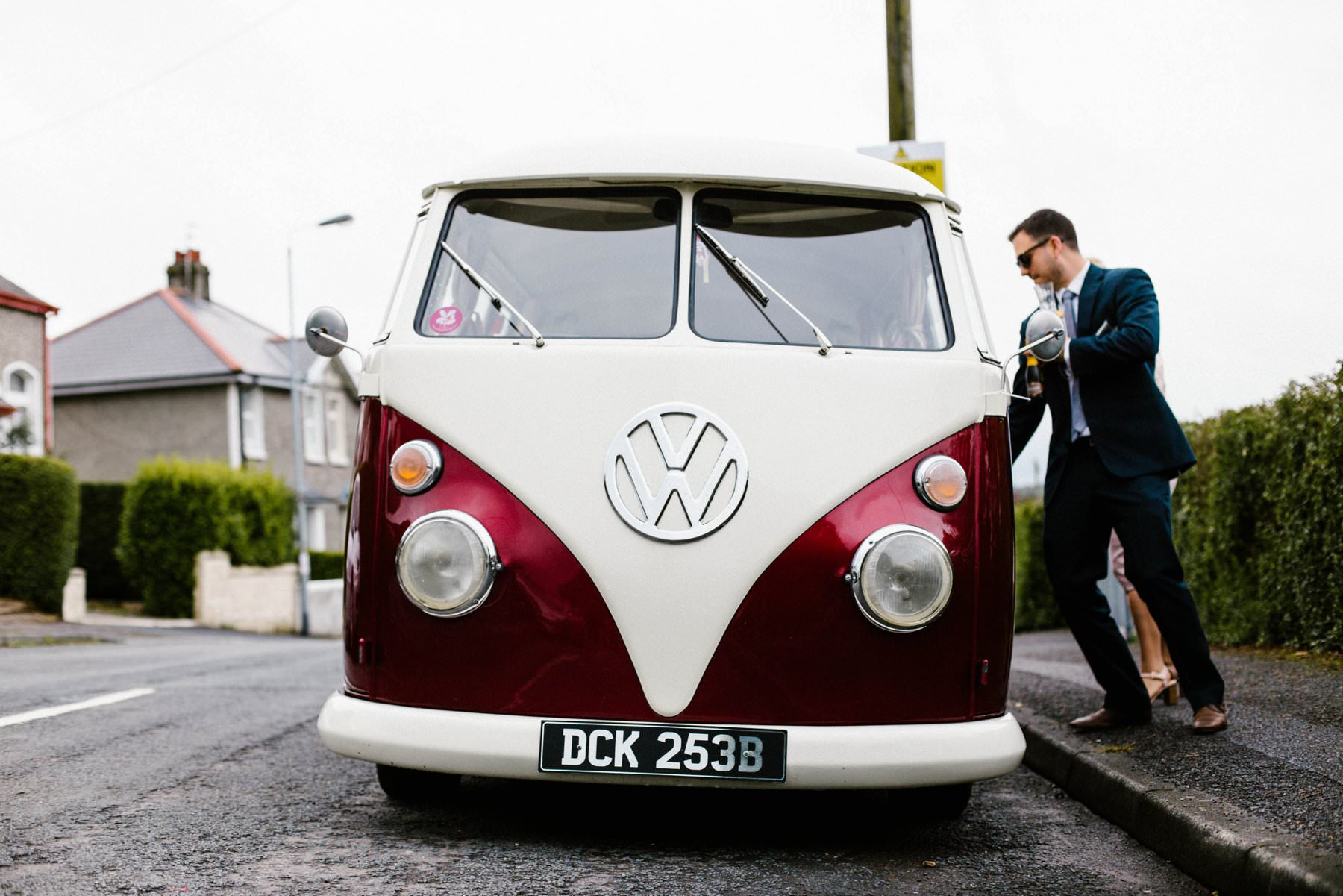 vw camper garden wedding photographer northern ireland