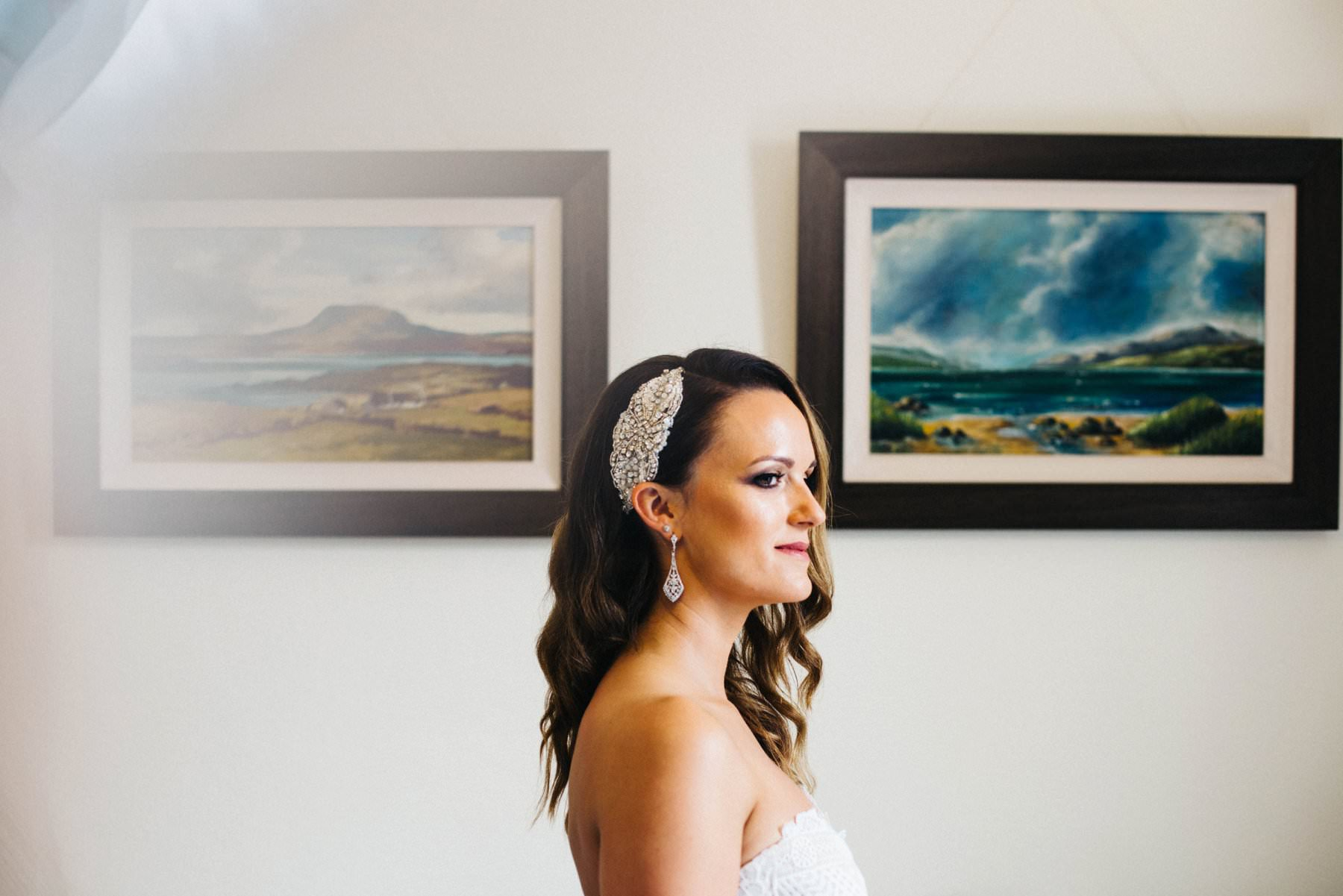 bride portrait garden wedding photographer northern ireland