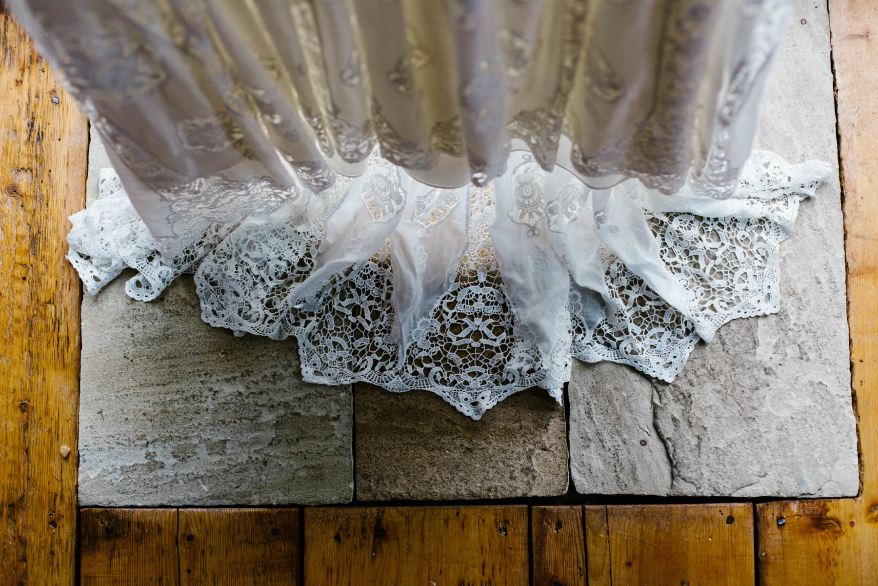 wedding dress detail wedding photographer northern ireland