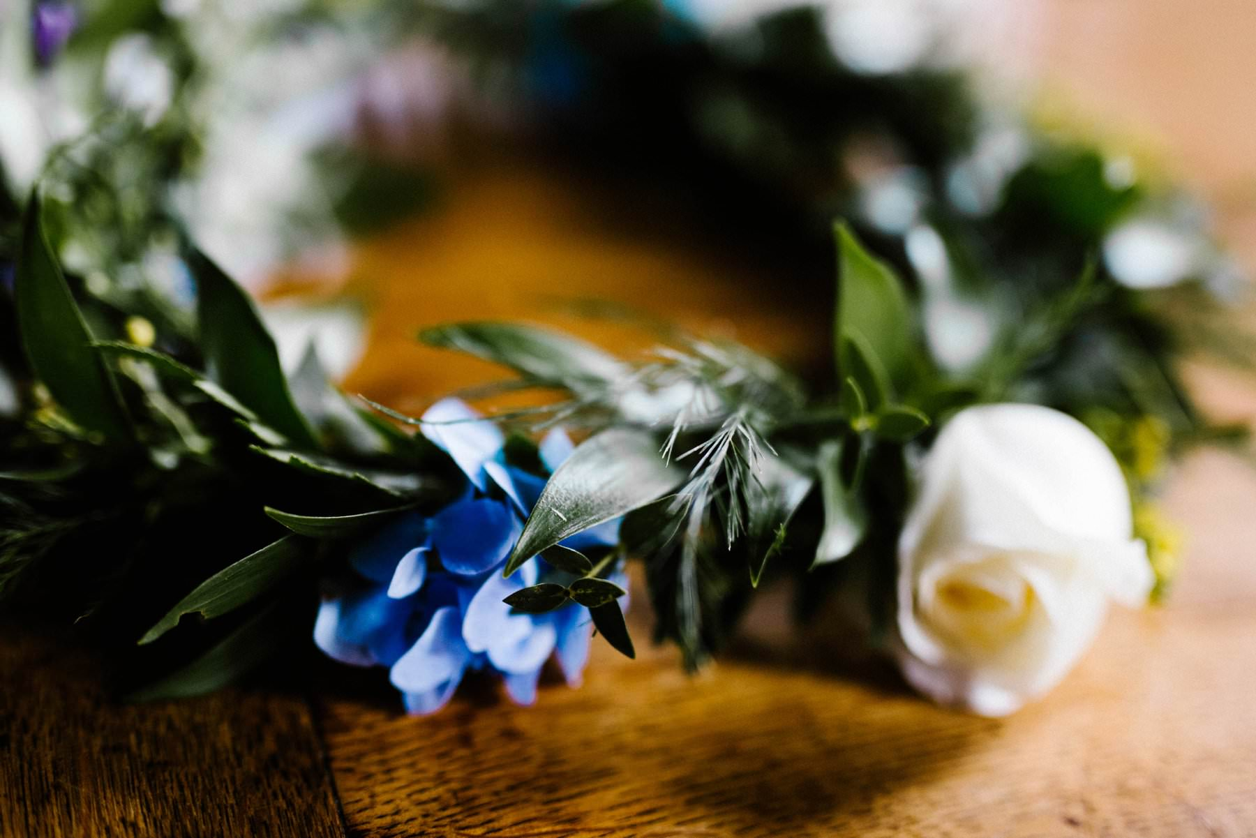 homemade flower crown wedding photographer northern ireland