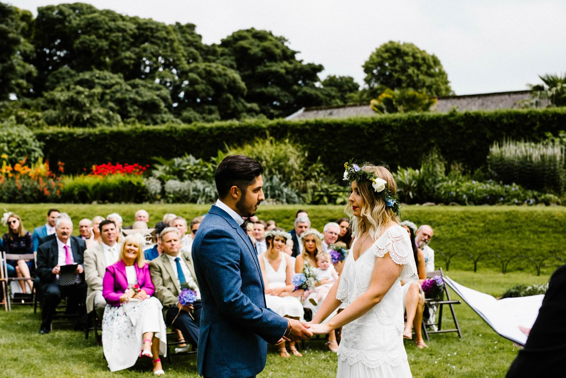 outdoor wedding ceremony wedding photographer northern ireland