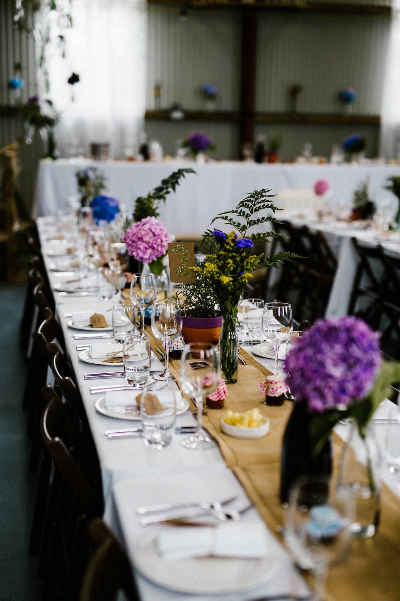 table runners barn wedding photographer northern ireland