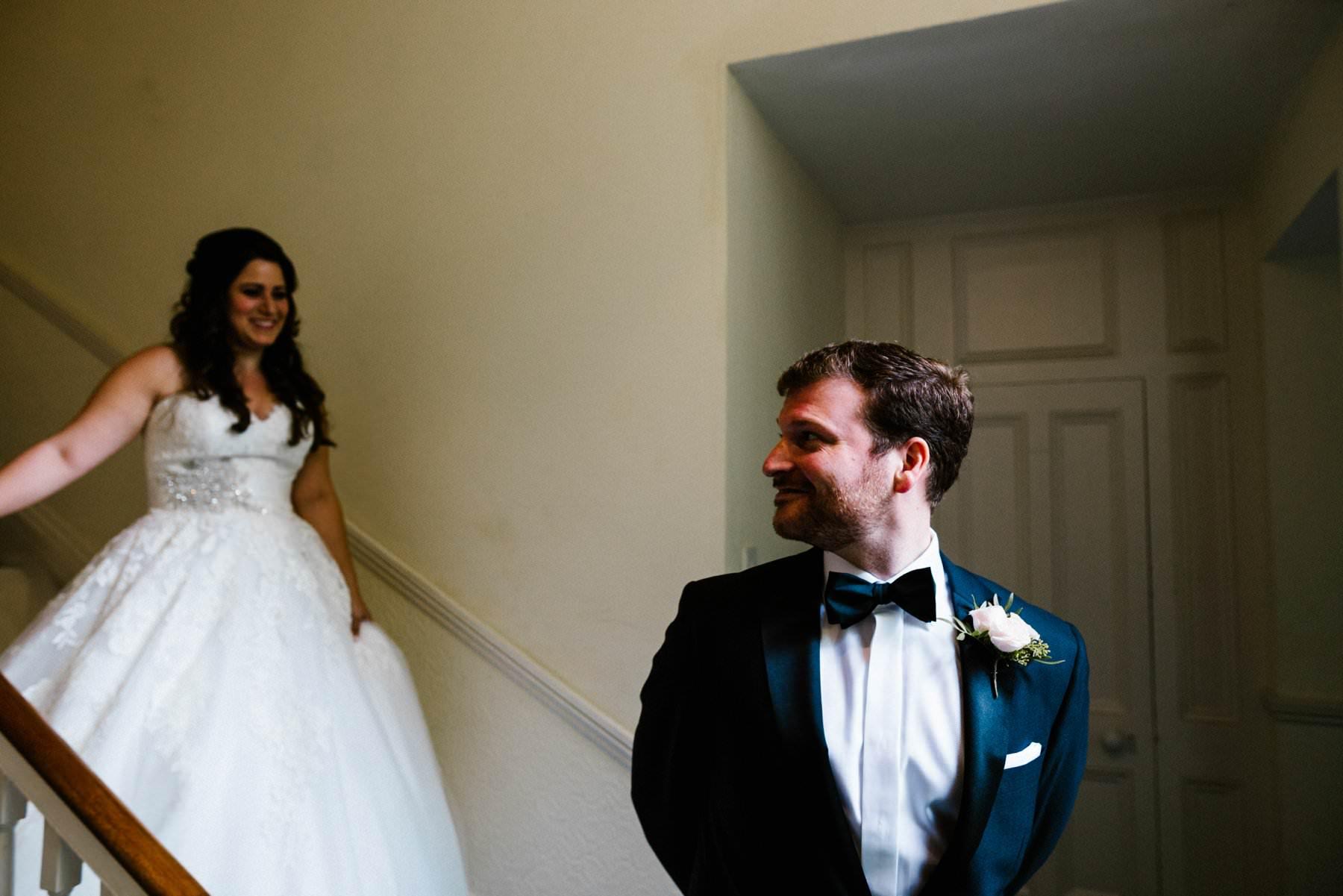 first look irish destination wedding photography