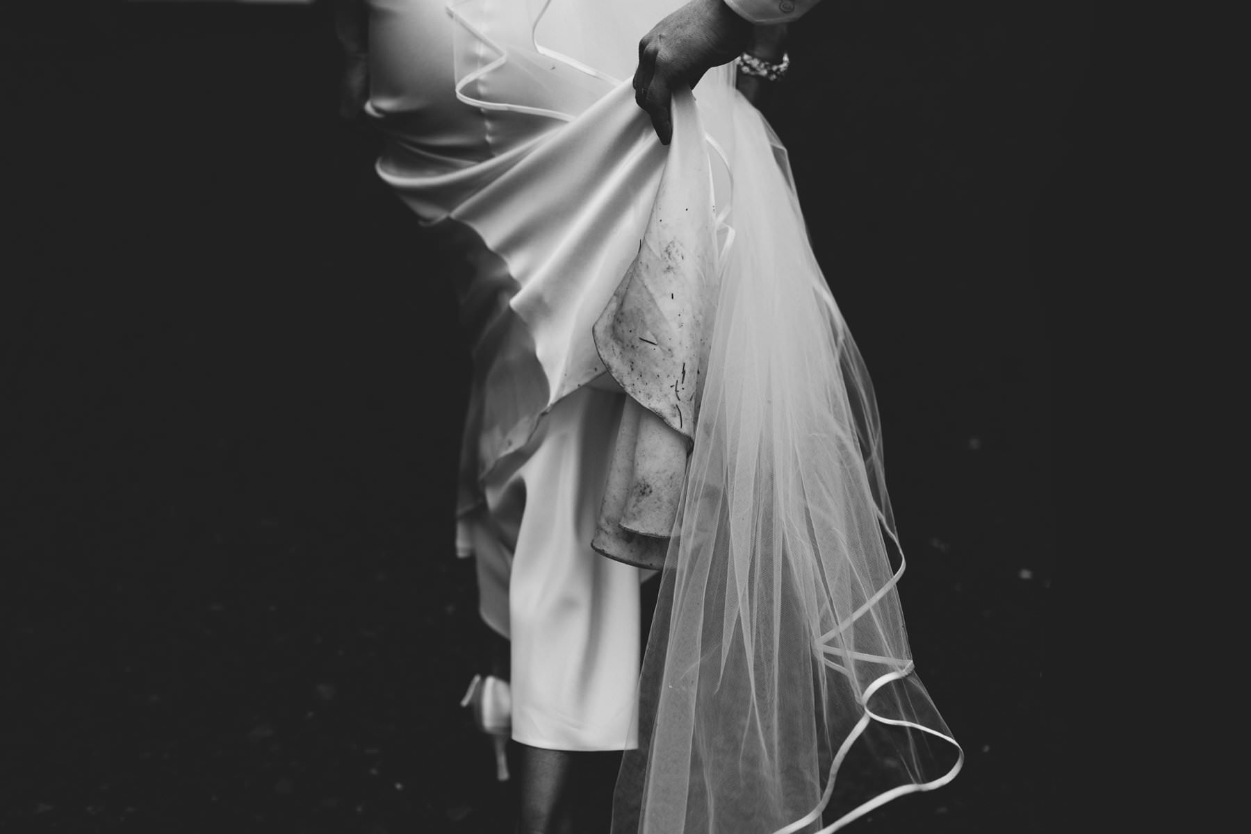 a brides dirty wedding dress wedding photography northern ireland