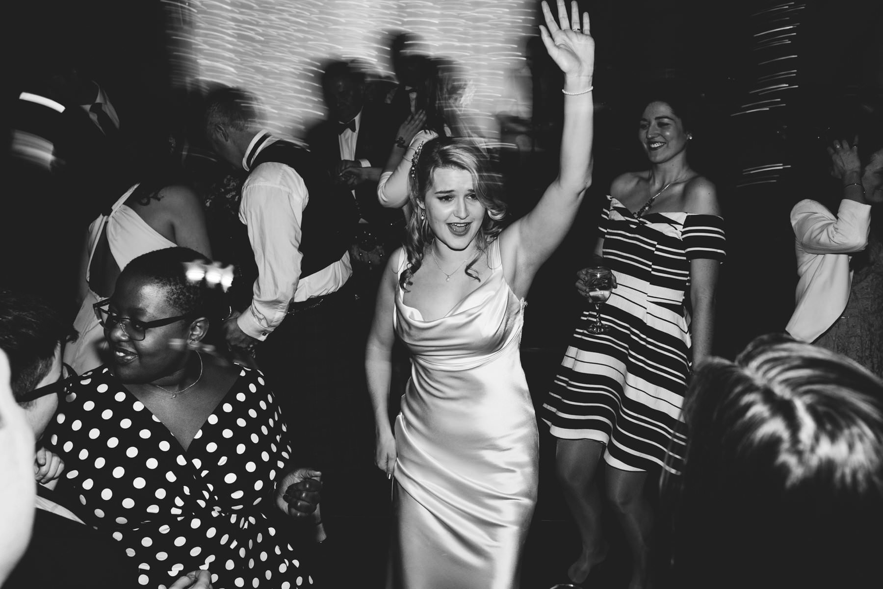 bride dancing at larch field wedding photography northern ireland