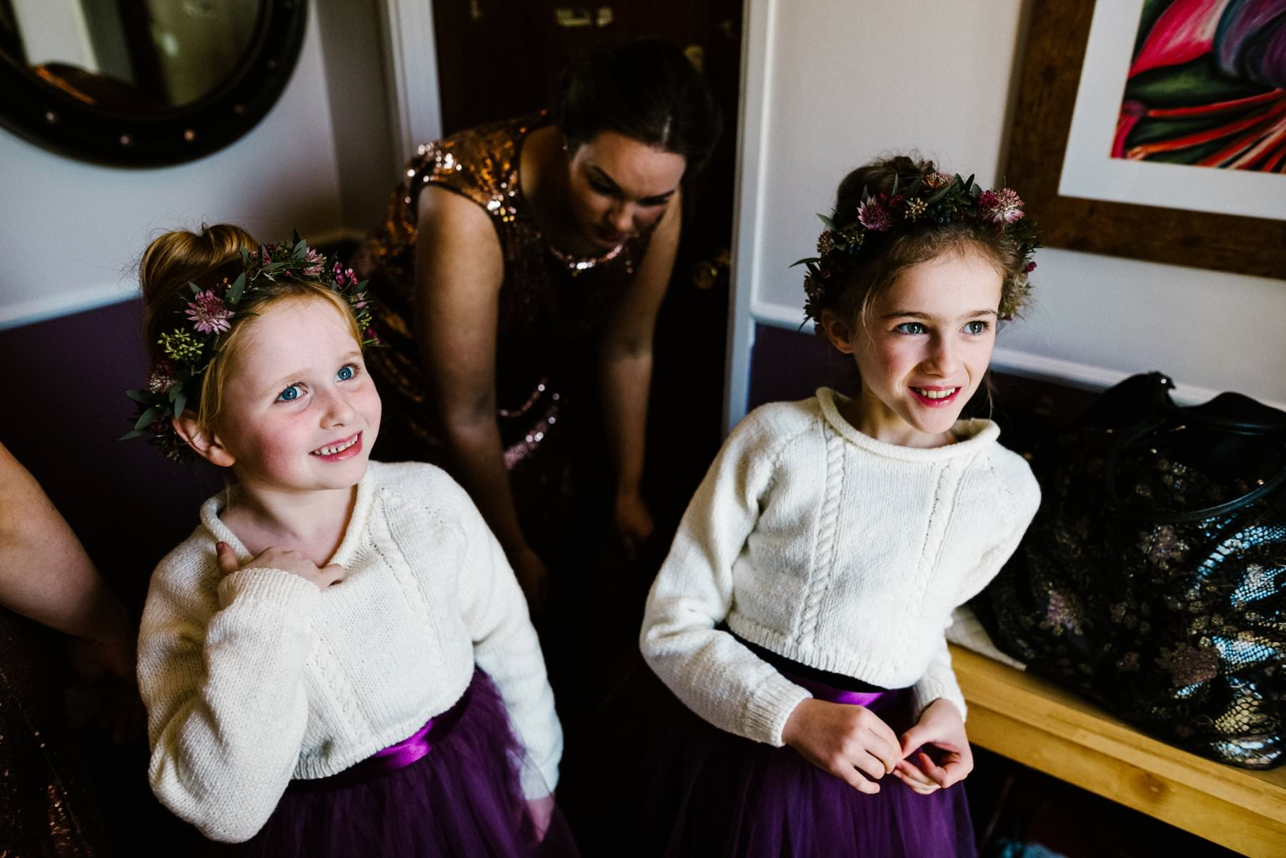 flower girls wedding photography northern ireland