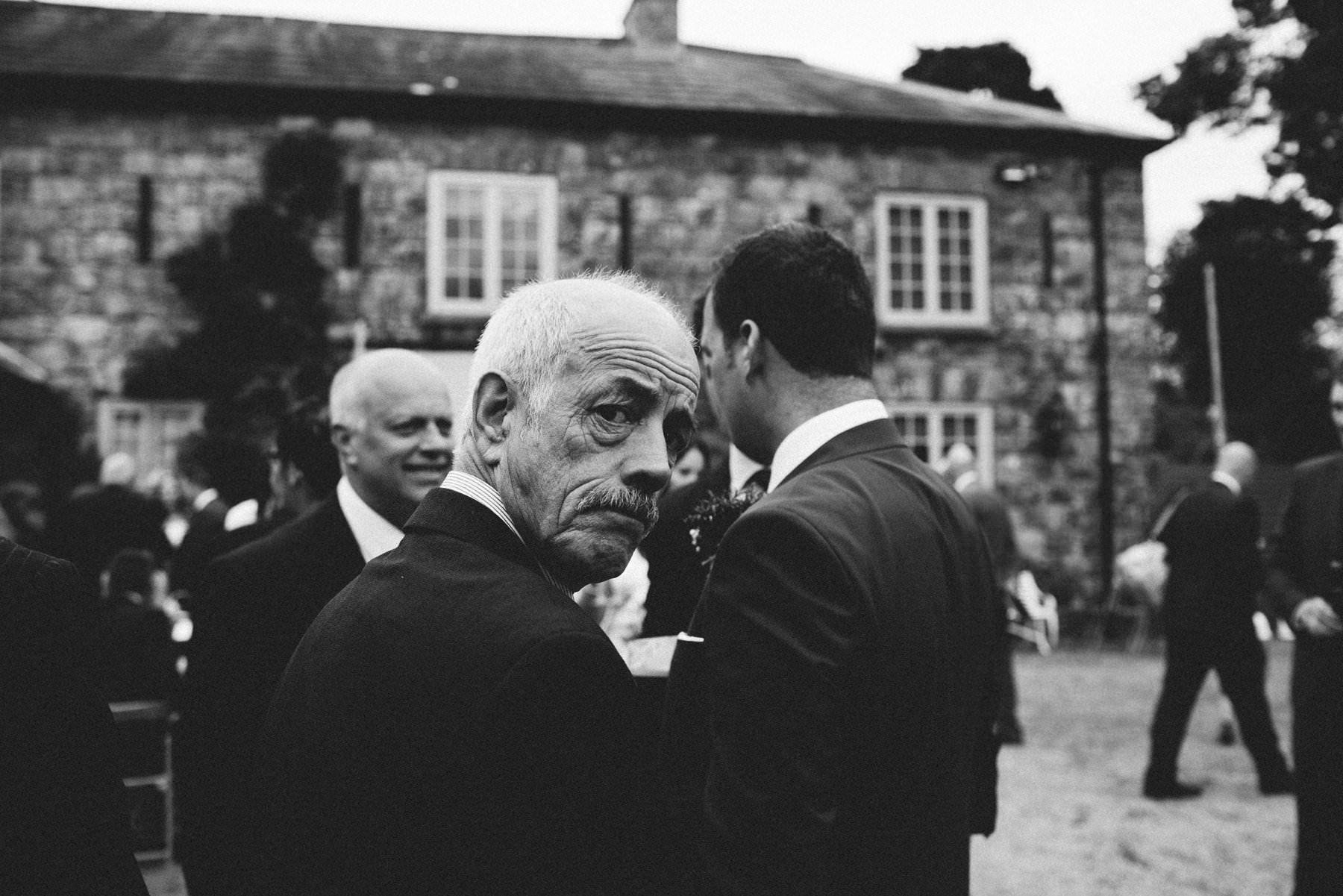 old man wedding guest tullyveery house wedding photography northern ireland