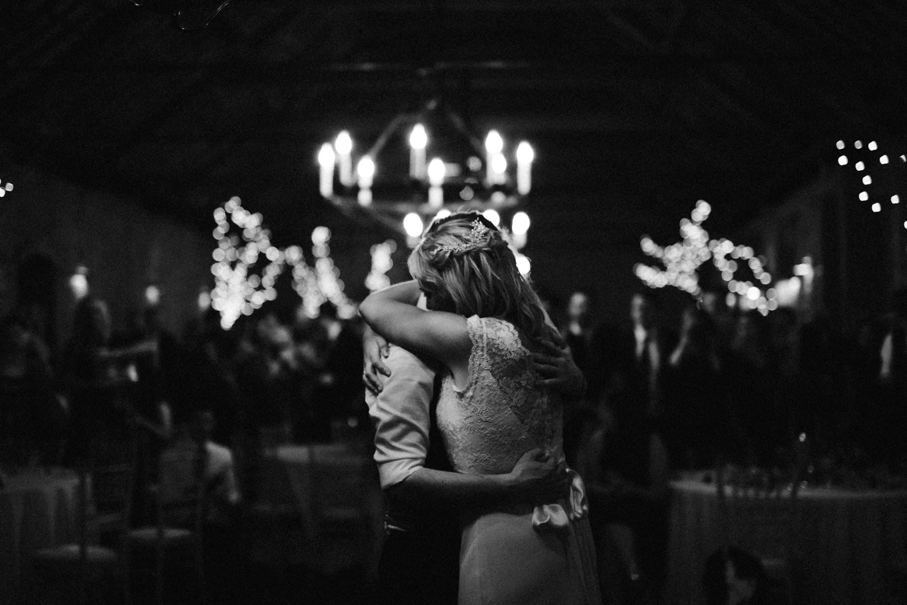 a bride and grooms first dance at larch field estate wedding photography northern ireland