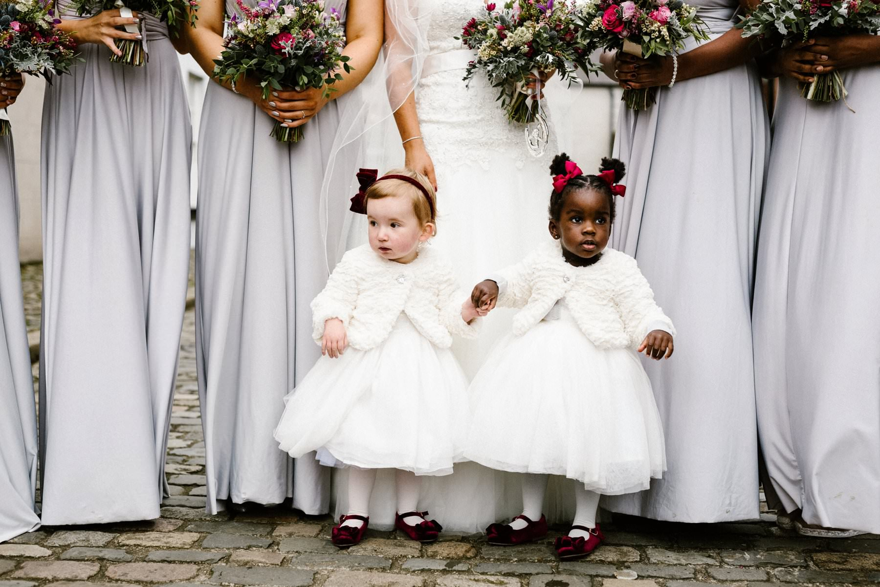 two cute flower girls wedding photography northern ireland