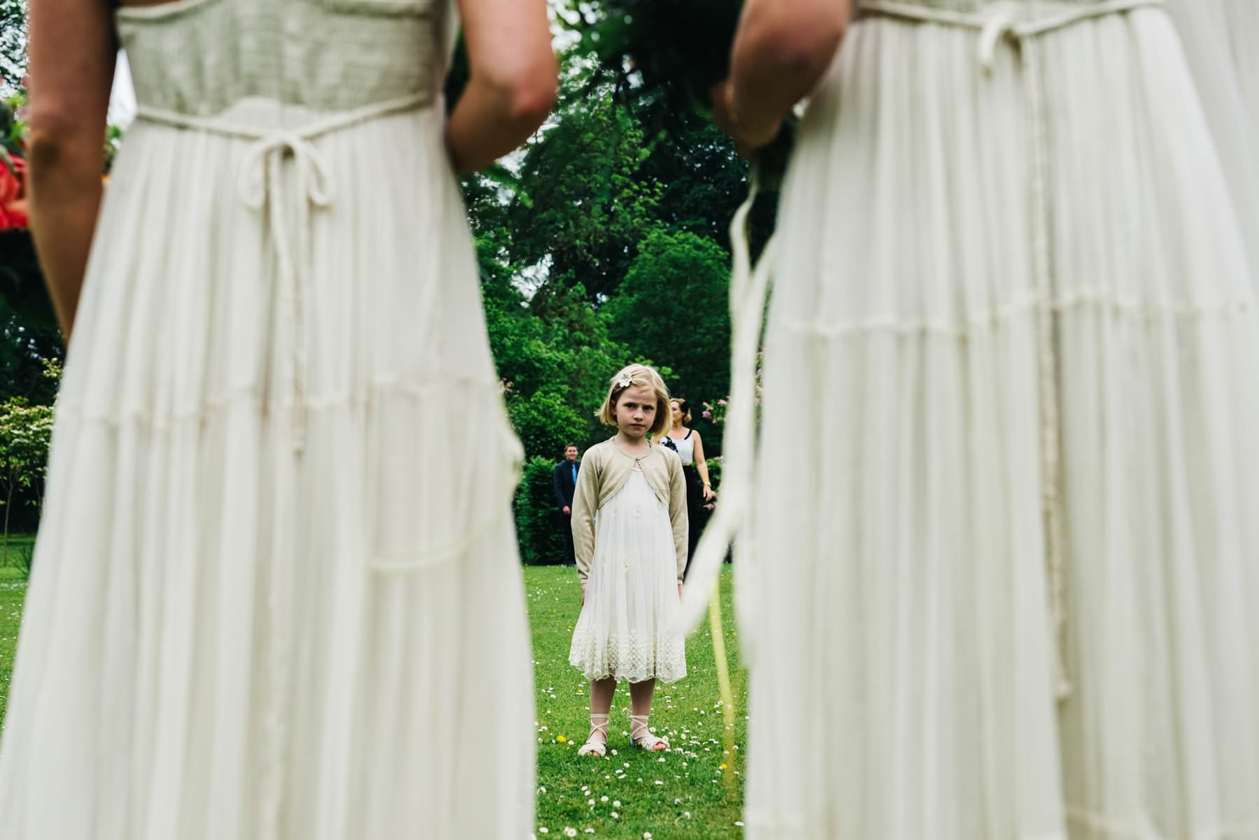 flower girl wedding photographer northern ireland