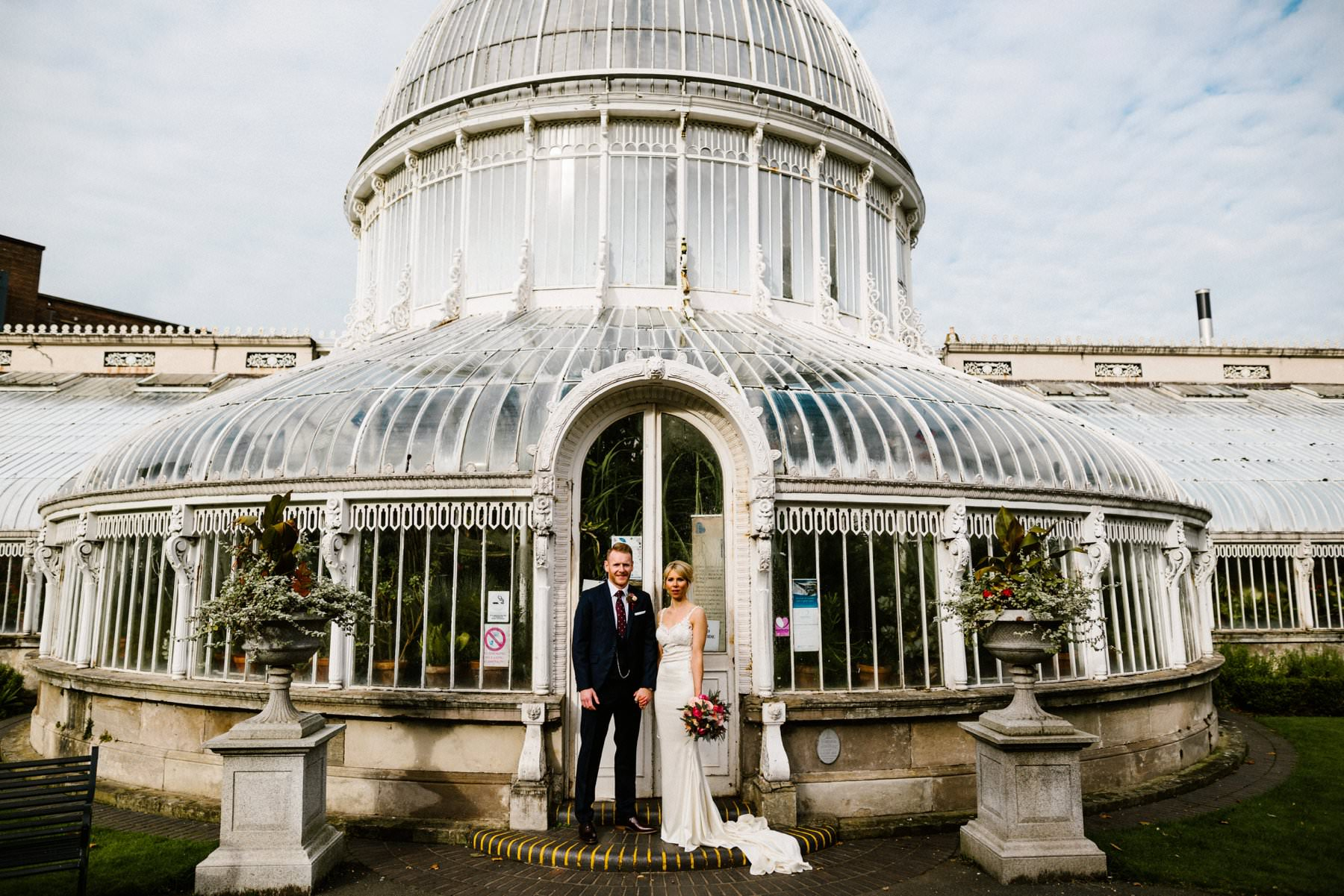wedding photography botanic gardens belfast